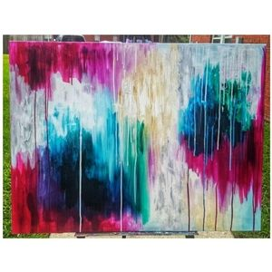 "30""x40"" Abstract Acyrlic on Canvas Painting"